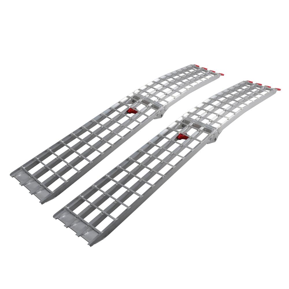 Outopee 7.5' Loading Ramp 1500 lb Heavy Duty Aluminum ATV UTV Arched Folding Ramps Pair