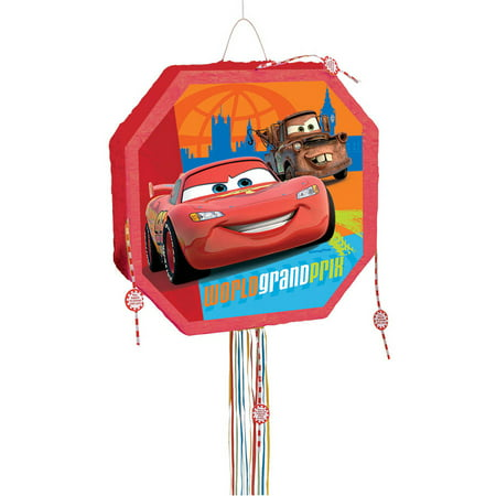 Disney Cars Pinata, Pull String, 17 x 17in (Pinatas For Boys)
