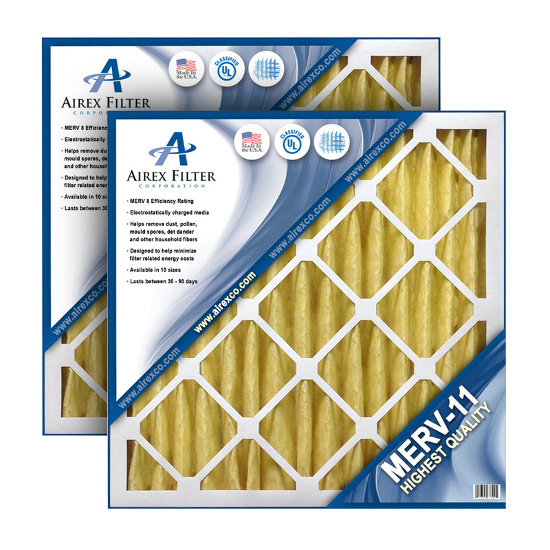 10x20x1 Pleated Air Filter MERV 11 Highest Quality 6 Pack (Actual Size: 9.5 X 19.5 X .75) by Supplier Generic