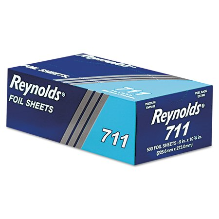 Reynolds 711 Pop-Up Interfolded Aluminum Foil Sheets, 6 Boxes of 500, 3,000 Sheets Total ()