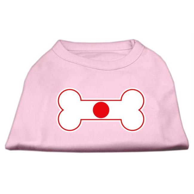 Bone Shaped Japan Flag Screen Print Shirts Light Pink Xs (8) - image 1 de 1
