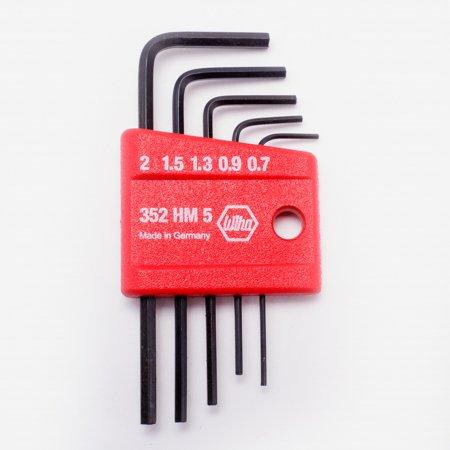 Wiha 35392 5 Piece Mini L-Key Short Hex Metric Set 5 Piece Metrics Shape