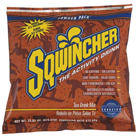 SQWINCHER 016045-TE Sports Drink Mix,Tea