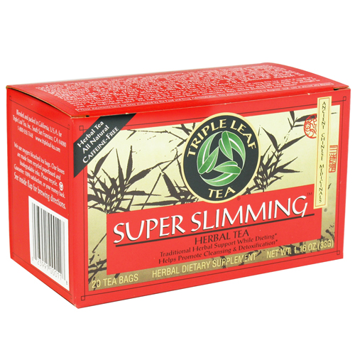 Triple Leaf Tea Super Slimming Herbal Tea - 20 Tea Bags, 6 Pack