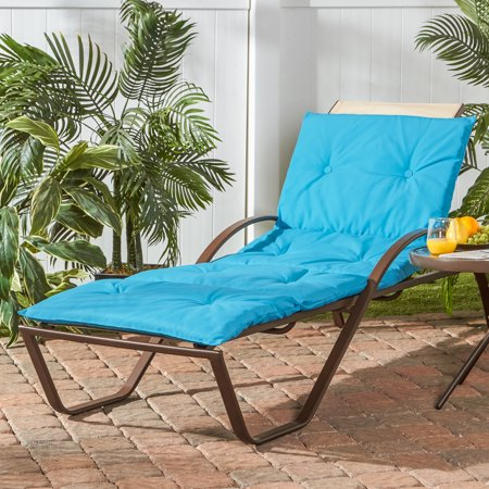 Greendale Home Fashions Outdoor Solid Chaise Lounge Pad
