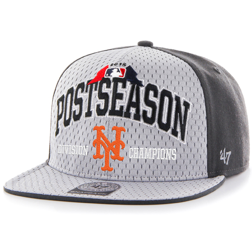 New York Mets '47 2015 NL East Division Champions Locker Room Clincher Captain Hat - Gray - OSFA