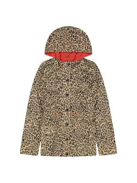 Jessica Simpson Hooded Leopard Printed Anorak Girls 4-16