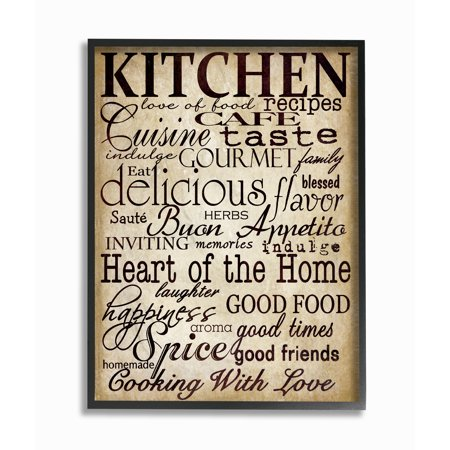 The Stupell Home Decor Collection Words In The Kitchen Off White Framed Giclee Texturized Art, 11 x 1.5 x 14 - Decor Sale