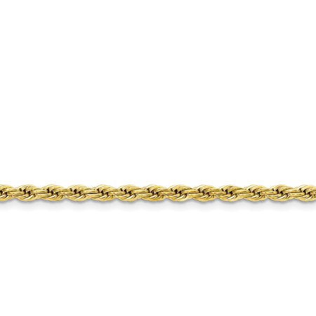 Stainless Steel Yellow IP-plated 4.0mm Rope Chain 30in - image 3 de 3