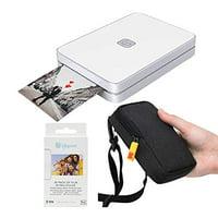 Lifeprint 2x3 Portable Photo and Video Printer (White) Travel Kit