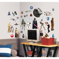 31 STAR WARS WALL DECALS Movie Characters Stickers Kids Bedroom Starwars Classic Decor