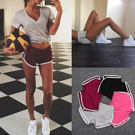 Canis Summer Pants Women Sports Shorts Gym Workout Waistband Skinny Yoga Short Summer Womens Shorts