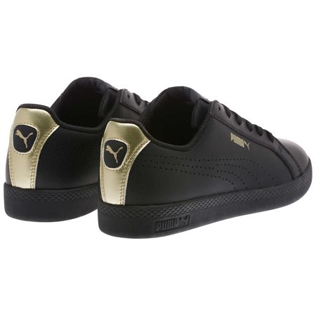 grand choix de 66035 4ad98 Puma Womens Perforated Metallic Leather Sneaker (Black/Gold, 9.5)