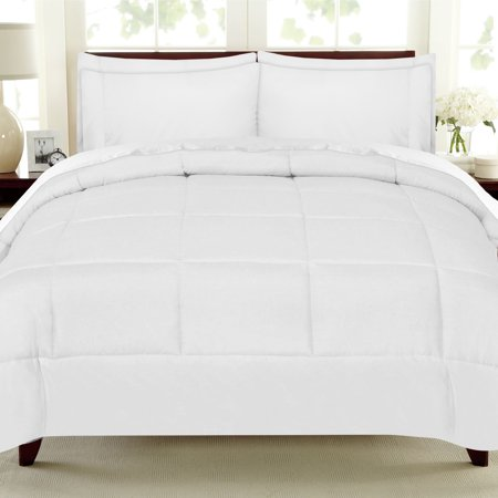 Luxury 7 Piece Bed In A Bag Down Alternative Comforter And Sheet Set - White - -