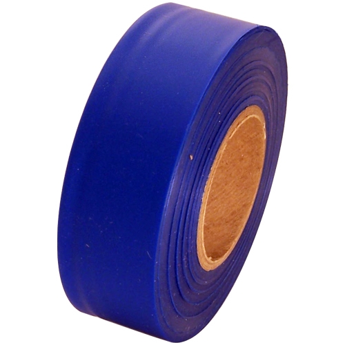 Blue Flagging Tape 1 3/16 inch x 300 ft Non-Adhesive