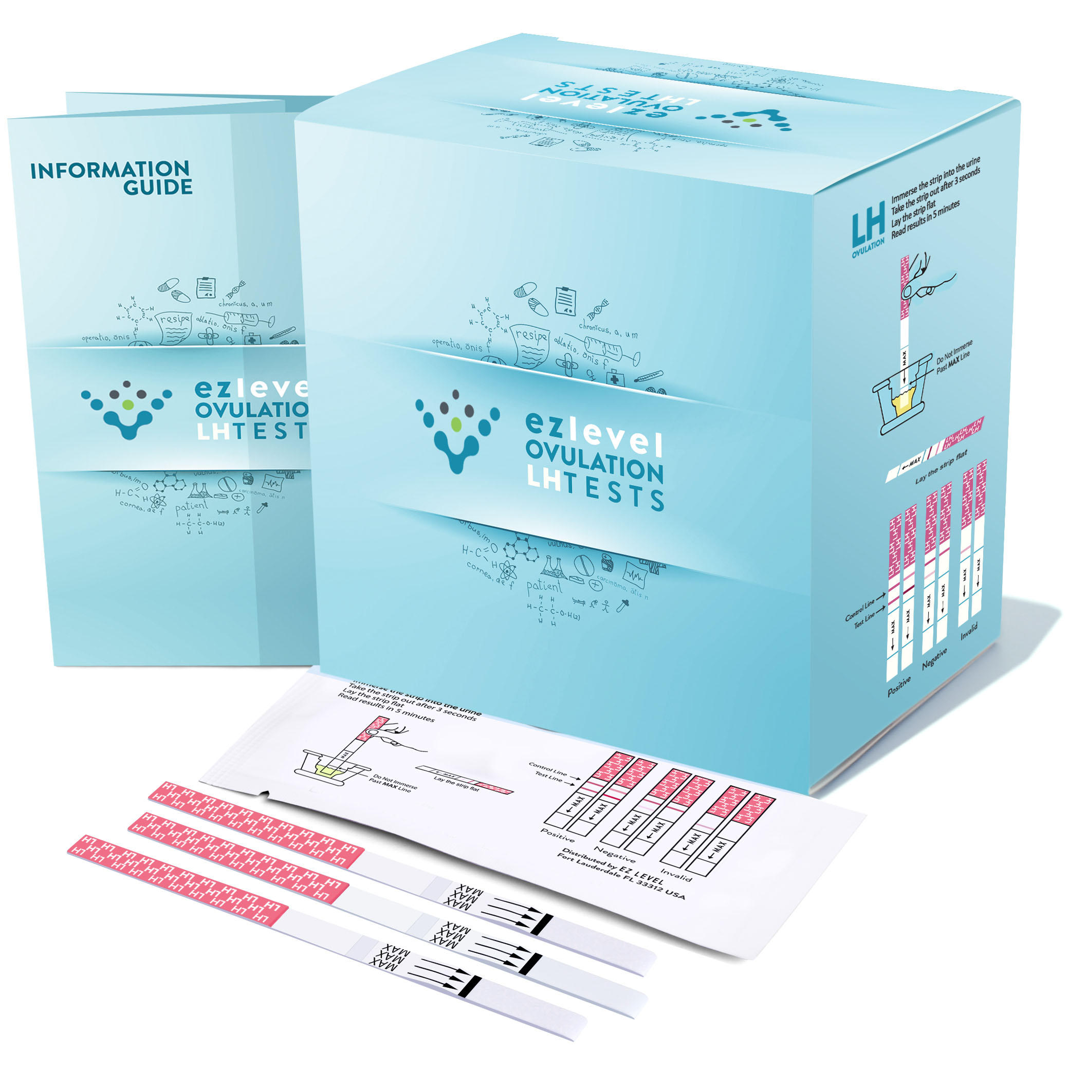 EZ Level 90 Ovulation Test Strips LH Surge OPK Predictor Kit (90 LH)