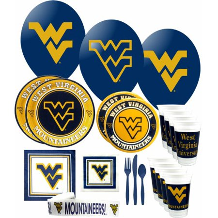 Virginia Tech Party Supplies (West Virginia Mountaineers Party Supplies Pack #)