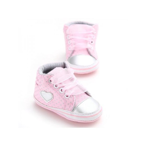 ec0ff7660 Nicesee - Nicesee Newborn Baby Girls Laces High-Top Ankle Sneakers Soft  Sole Crib Shoes - Walmart.com