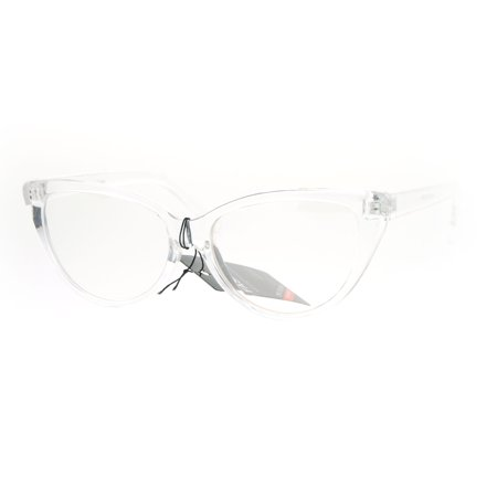 SA106 Clear Plastic Frame Goth Cat Eye (Clear Plastic Frame Glasses)
