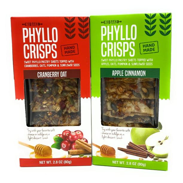 Phyllo Crisps Pastry Dough Sheets Crisp Snack Variety Bundle - Cranberry  Oat Crisps Apple Cinnamon 2 Pk - 2.8 oz - Walmart.com - Walmart.com
