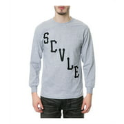Black Scale Mens The Scvle Logo LS Graphic T-Shirt, grey, Large