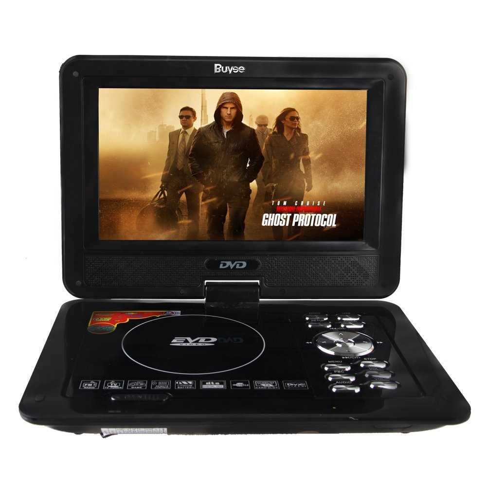 Buyee Handheld Portable DVD Player 9.5 Inch 270 Degree Sw...
