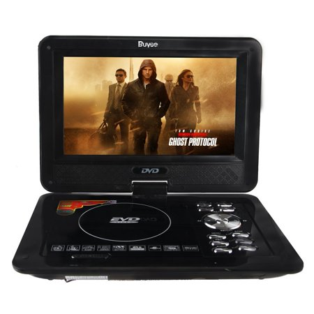Buyee Handheld Portable DVD Player 9.5 Inch 270 Degree Swivel Screen Support Analog Tv_ Vcd_cd_mp3_mp4_usb Sd Card Slot _Card (Slots Games Handheld)