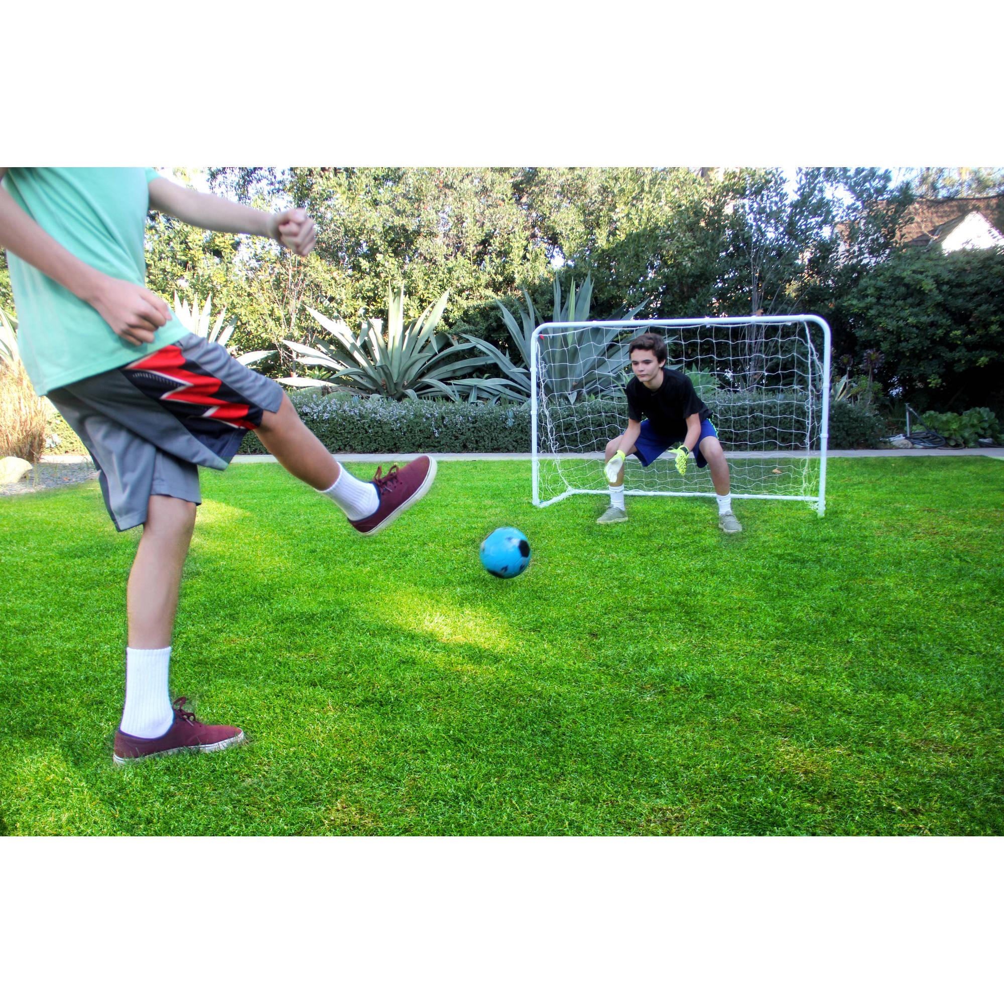 Athletic Works 6' x 4 Junior Soccer Goal for Kids ( Includes Velcro Straps)