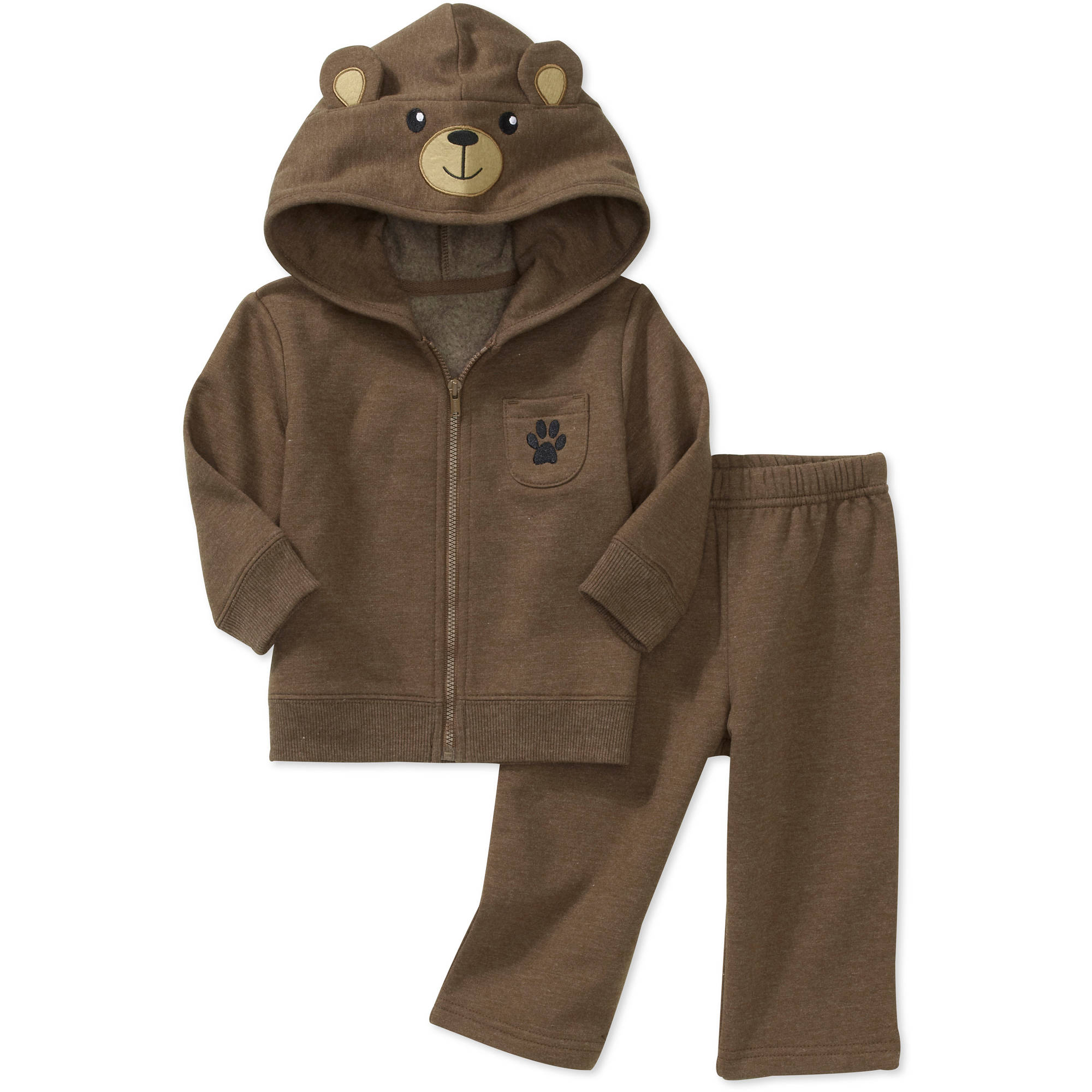 Newborn Boys' 2-Piece Animal Hoodie and Pants Set