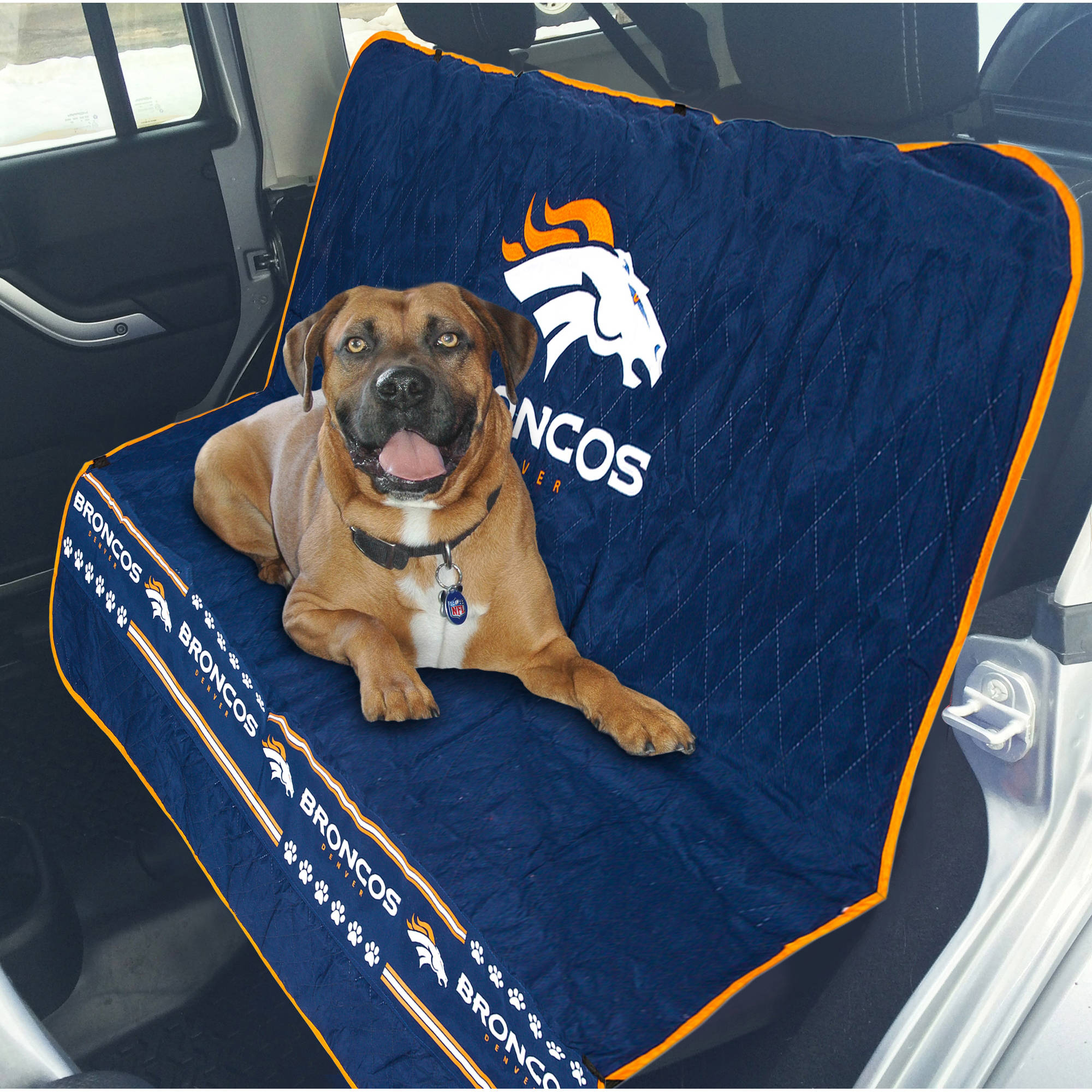 Pets First NFL Denver Broncos Car Seat Cover