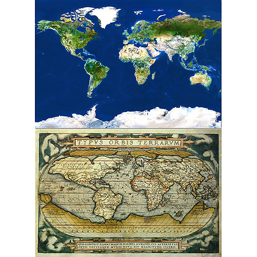 """Educa """"The World"""" Puzzle 2-Pack, 1000 Pieces Each"""