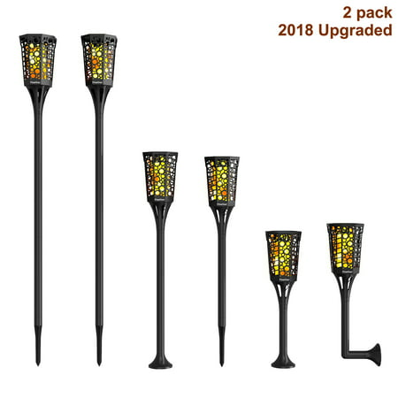 Solar Torch Lights,Dancing Flame Lighting 96 LED Flickering Tiki Torches Waterproof Wireless Outdoor Light for Patio Garden Path Yard Wedding Party(2 Pack)](Flame Lights)