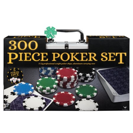 Professional 300-Piece Poker Set in Aluminum Carry Case - Poker Chips Near Me