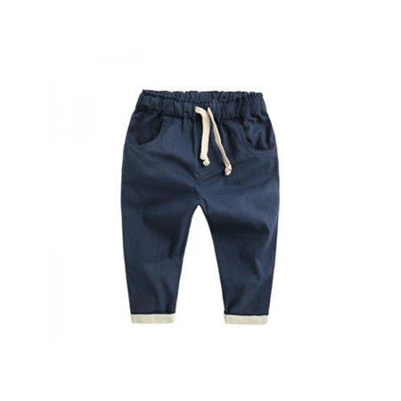 Lavaport 2-7Y Spring Baby Kids Boy Haren Pants Casual Trouser For Toddlers