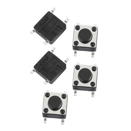 5Pcs 6mmx6mmx4.3mm Panel Momentary Tactile Tact Push Button Switch 4 ...