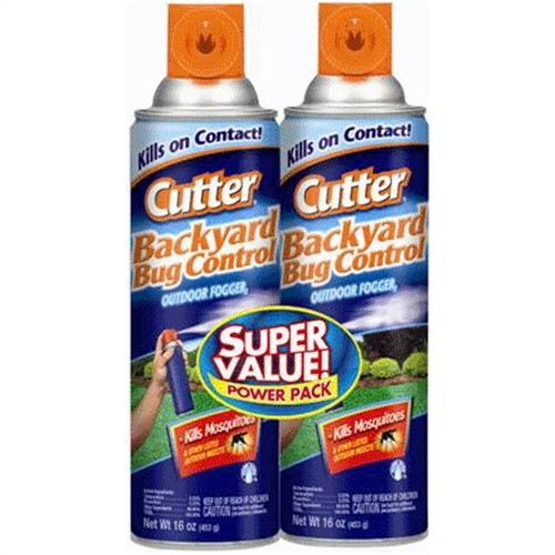 16oz Cutter Backyard Bug Control Outdoor Fogger Twin Pack