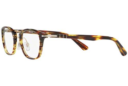 Persol Mens PO3109V Eyeglasses Striped Brown 49mm