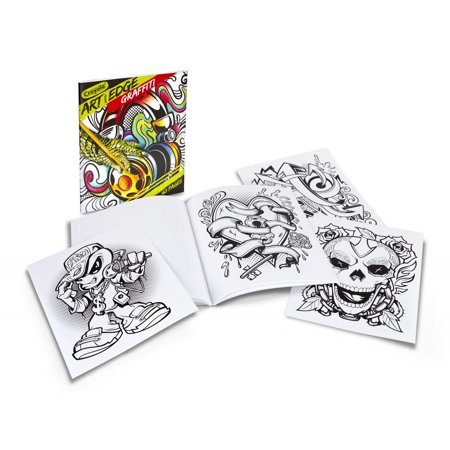 Crayola Graffiti Adult Coloring Book, 40 Pages
