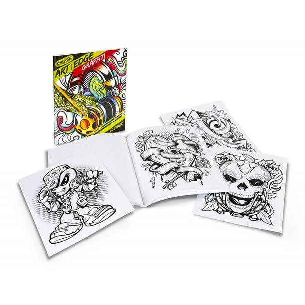 Crayola Graffiti Adult Coloring Book, 40 Pages - Walmart ...