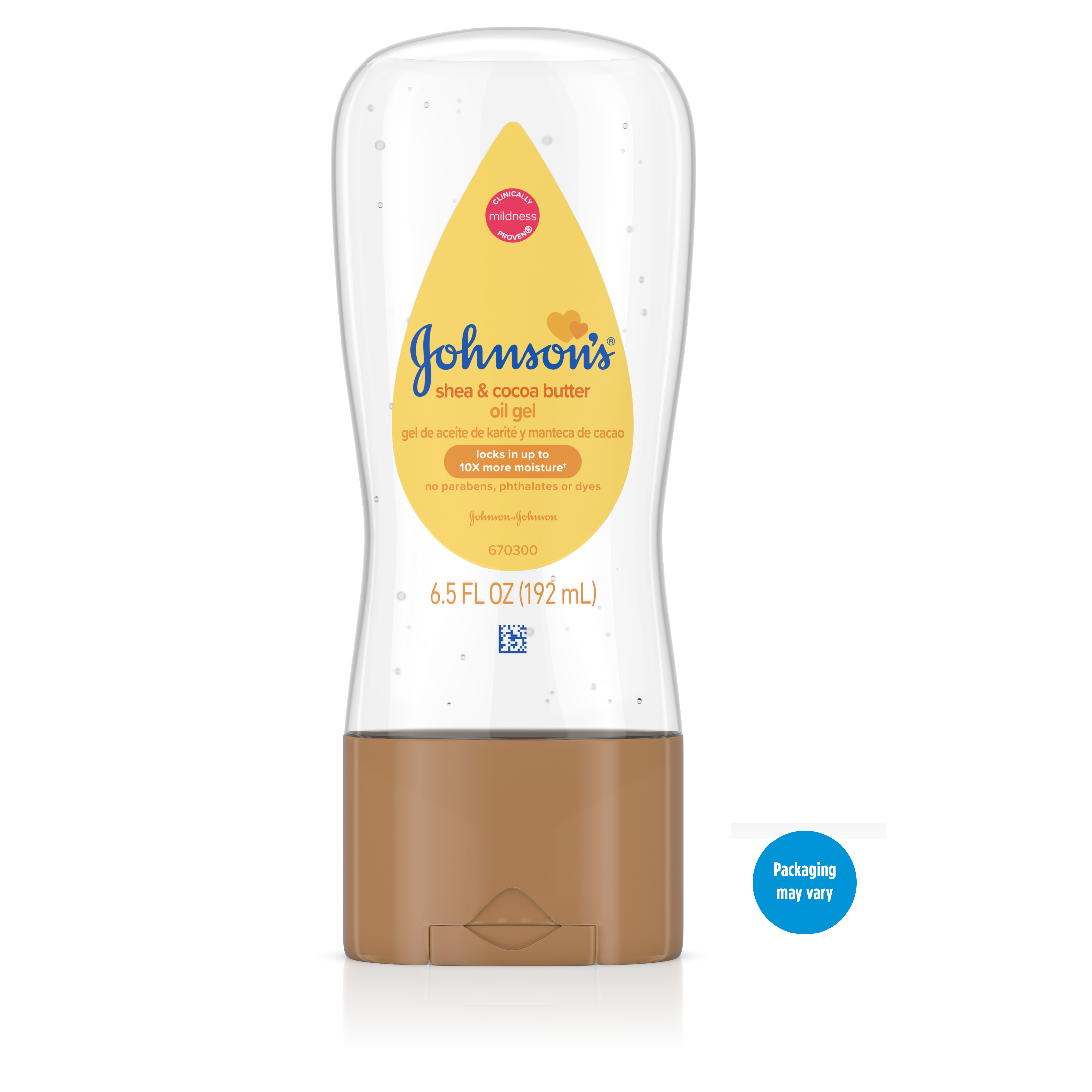 Johnson's Baby Oil Gel with Shea & Cocoa Butter, 6.5 fl. oz