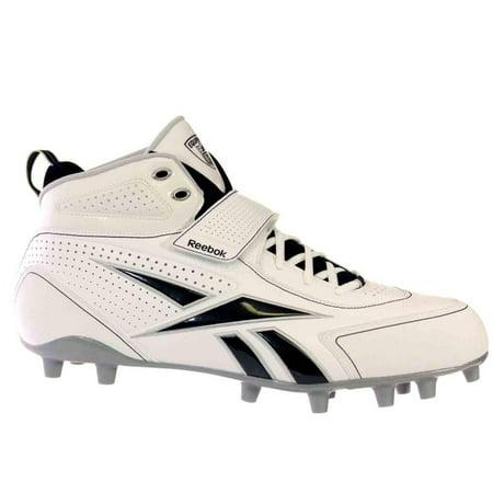 c9ac07f913ba Reebok PRO THORPE III MP Mens Football Shoes White Black Silver -  Walmart.com