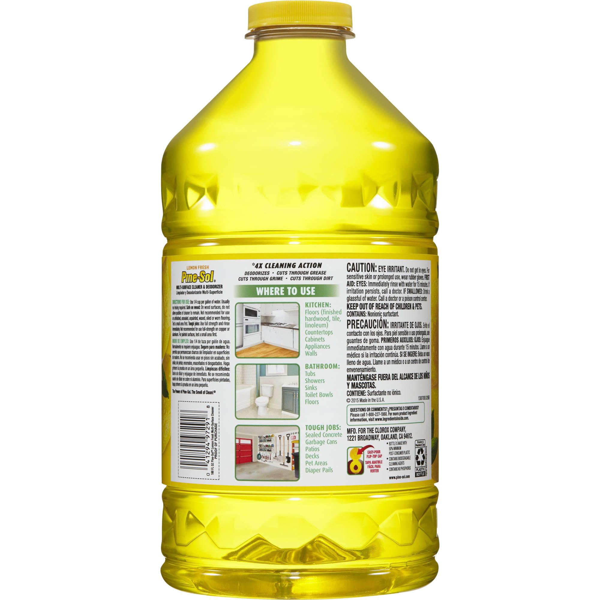 Pine Sol Multi Surface Cleaner Lemon Fresh 100 Oz Bottle