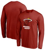 2d6a3abc Product Image Miami Heat Primary Logo Long Sleeve T-Shirt - Red