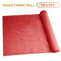 TANG Sunshades Depot 16' x 151' Shade Cloth 180 GSM HDPE Red Fabric Roll Up to 95% Blockage UV ResisRedt Mesh Net