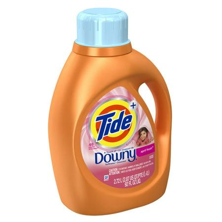 Tide Plus a Touch of Downy April Fresh Liquid Laundry Detergent, 69 fl oz