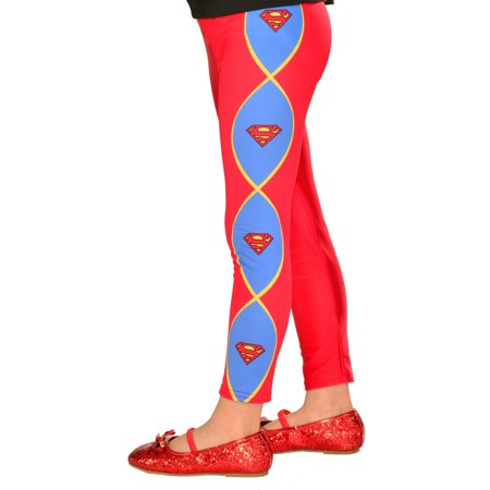 Footless Supergirl Halloween Costume Accessory Tights - Tights Costume