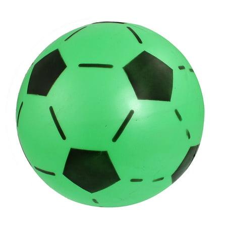 Green Black 6.6  Dia Inflatable Soft Plastic Football - Personalized Plastic Footballs