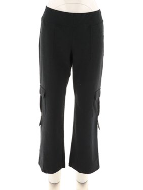 Wicked Women Control Petite Cargo Bootcut Pants A301339