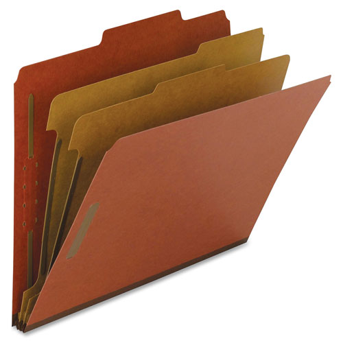 "Classification Folders, 2"" Exp., Letter, 2 Div, 10/BX, Red NAT01051"