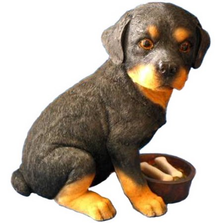 - Gift Link Rottweiler Puppy with Food Bowl Money Bank